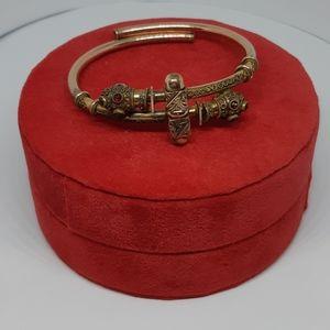 14K Goldfill Victorian Garnet Bracelet